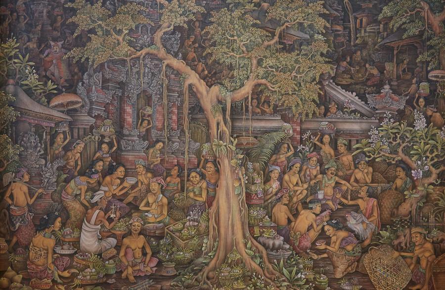Keliki Kuan Painting at Puri Lukisan