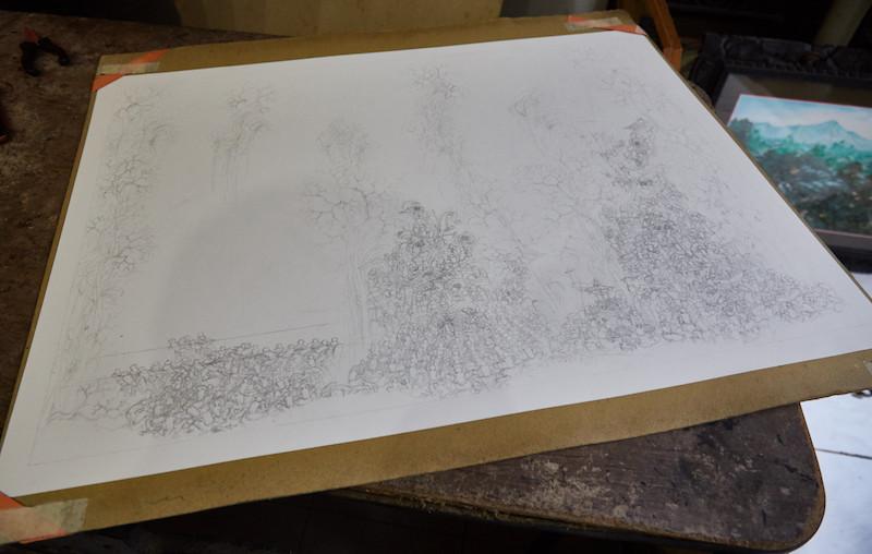 Miniature Sketch Ubud