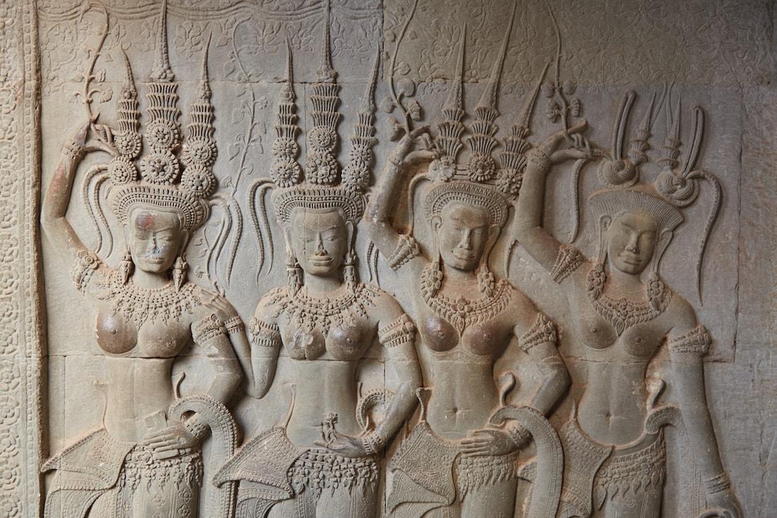 Angkor Wat Devatas